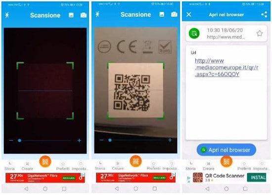 Come scansionare codice QR con Android 3